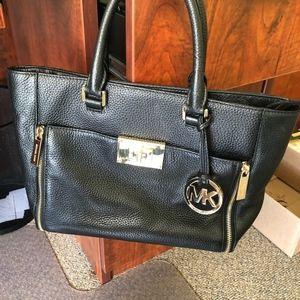Michael Kors Black Leather Satchel